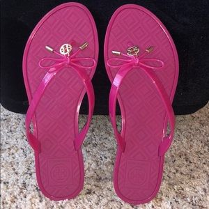 Tory Burch Jelly Bow Thong Sandals